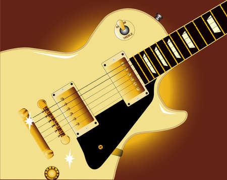 gibson: Close up of the definitive rock and roll guitar in cream