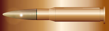 A rifle bullet isolated over a matal background