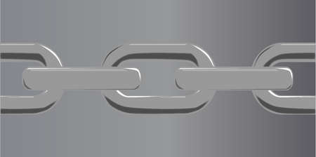 A steel chain set against a steel grey Stock Vector - 24167531
