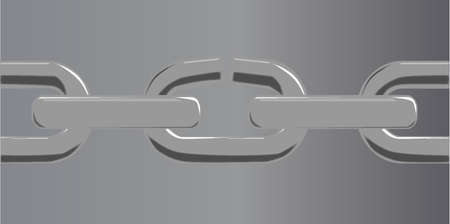 welded: A steel chain set against a steel grey with the weakest lnk breaking