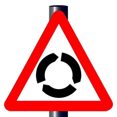 The traditional  ISLAND  triangle, traffic sign isolated on a white background Stock Vector - 24250174