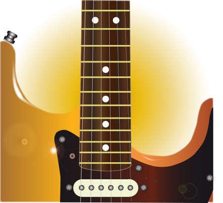 pickups: Una chitarra elettrica tradizionale solido corpo in primo piano