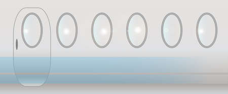 An aircraft background of door and windows Vector