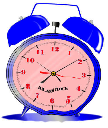 A traditional style alarm clock with oval face and external bells starting to melt Stock Vector - 24427964