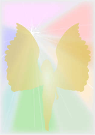 An angel with a bright heaven style background Stock Vector - 24427971