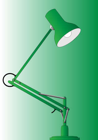 Typical anglepoise lamp  Illustration