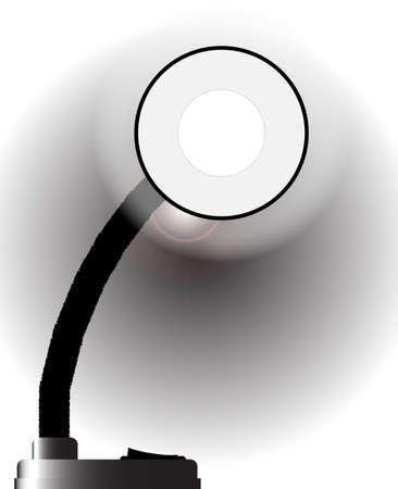poise: Una l�mpara de escritorio de la oficina aplomo articulados de metal negro Vectores