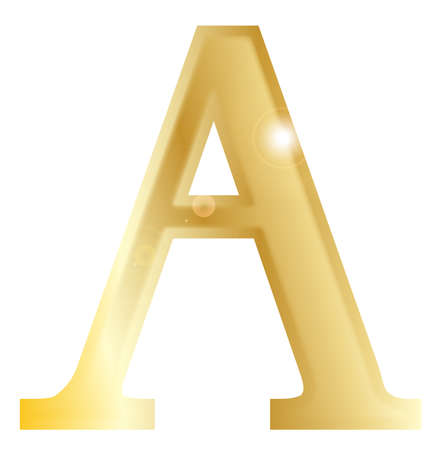 archaeological: Alpha - a letter from the Greek alphabet isolated over a white