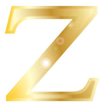 alphabet greek symbols: Zeta - a letter from the Greek alphabet isolated over a white  Illustration