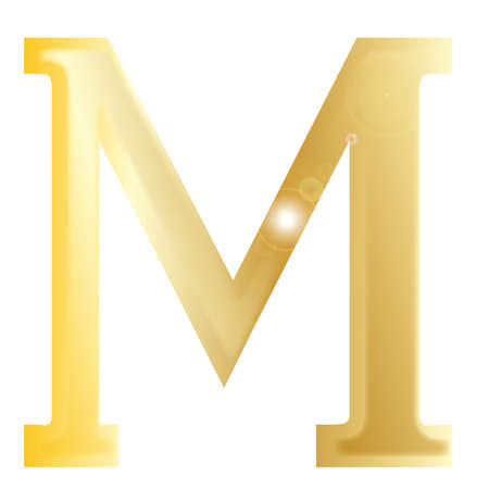 greek alphabet: Mu - a letter from the Greek alphabet isolated over a white