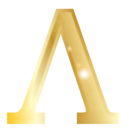 alphabet greek: Lambda - a letter from the Greek alphabet isolated over a white