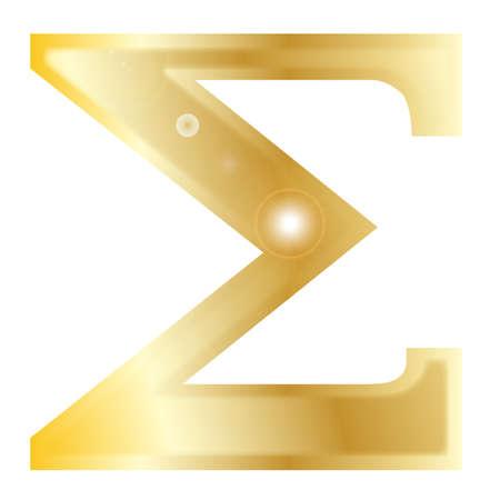 archaeological: una letra del alfabeto griego aislado sobre un fondo blanco