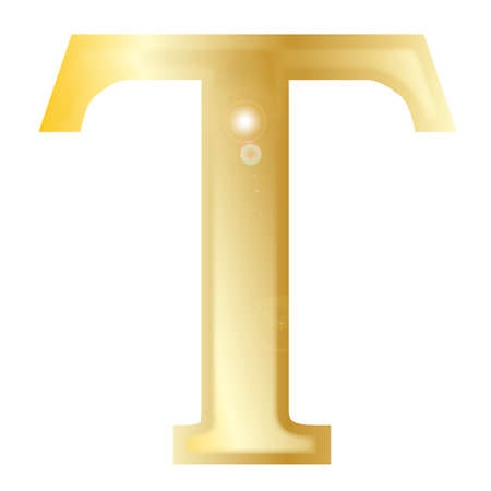 greek alphabet: Tau- a letter from the Greek alphabet isolated over a white