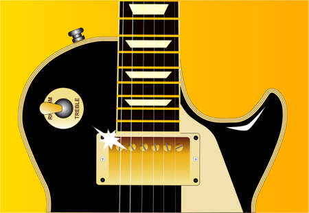 definitive: The definitive rock and roll guitar in black with reflections  Illustration