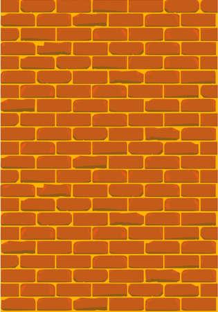 cemented: Una pared de ladrillo con cemento p�lido Vectores