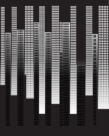 inverse: A city skyline with a different city imposed in reverse
