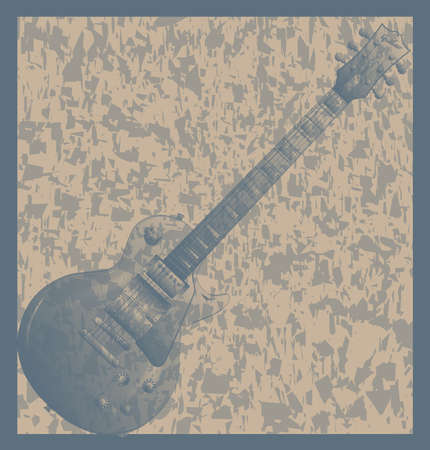 gibson: Solid body electric guitar with a grunge style layout
