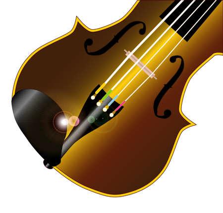 geigen: Ein typisches Violine Geige �ber einem wei�en Illustration
