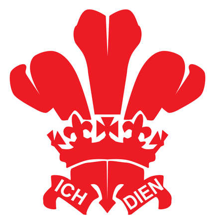 cymru: The traditional Fleur de Lis or three feathers symbol, or Prince ofWales s feathers