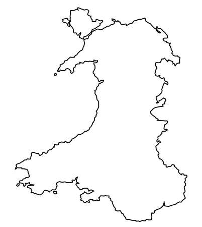cymru: Outline of Wales in the United Kingdom