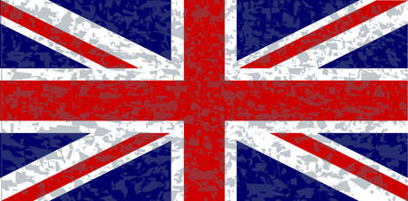 The UK Union Jack flag with a heavy grunge  Vector