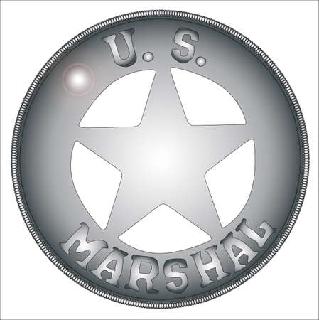 A typical US Marshall badge from the wild west
