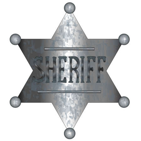 A US wild west sheriff badge  Vector