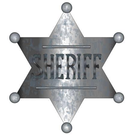 sheriff badge: A US wild west sheriff badge