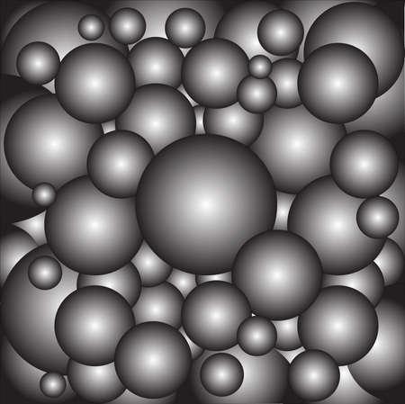 ベアリング: 金属製のボール ベアリングの背景としてのコレクション  イラスト・ベクター素材