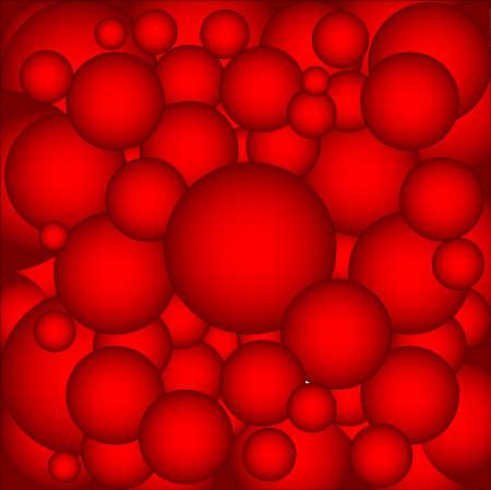 ベアリング: 背景として、赤、ホット金属ボール ベアリングのコレクション