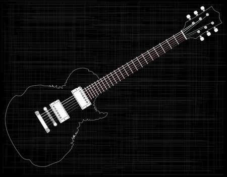 pickups: Un abstractimpresion di un vecchio rock and roll chitarra elettrica