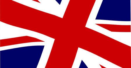fluttering: The British Union  Jack  flag fluttering in close up
