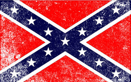 The flag of the confederates during the American Civil War Vector Illustration