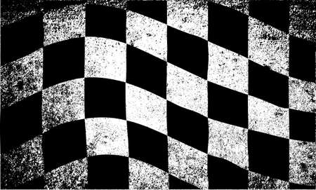 A dirty grunge fx chequered race flag Vector
