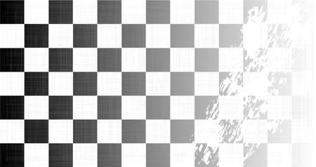 end of the world: A racing chequered flag faded with a heavy grunge FX