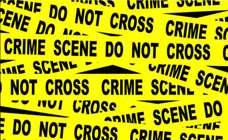 A typical CRIME SCENE DO NOT CROSS streamer