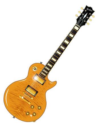 definitive: La roca definitiva y guitarra tirada en negro, aisladas sobre un fondo blanco