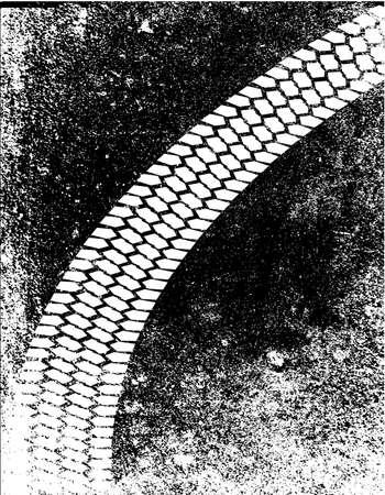 tornitura: Uno stile grunge pneumatico traccia di svolta in un cerchio