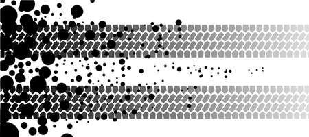 spillage: Dos neum�ticos de pista desapareciendo y dejando varias manchas de aceite