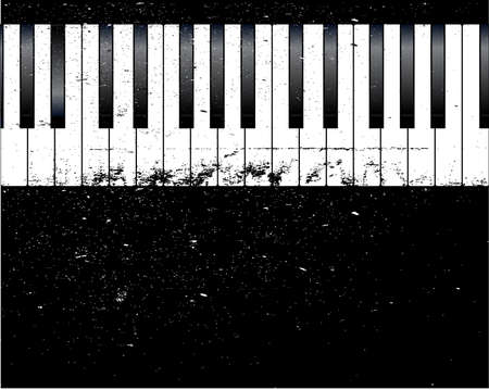Black and white piano keys with a grunge jazz FX