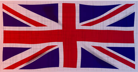 The heavy gtunge style British Union  Jack  flag