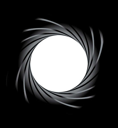 machined: Looking down the bore of a rifled barrel  Illustration