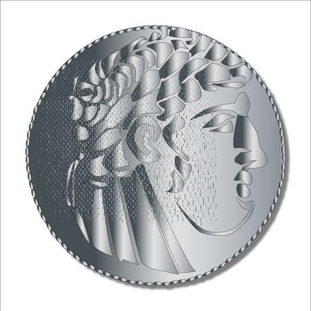 roman empire: A single shekel silver coin as used in the Times of the Roman Empire and supposedly taken by Judas to betray Jesus Christ
