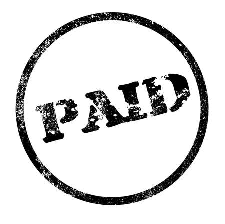 A paid rubber stamp impression isolated over a white background Vector