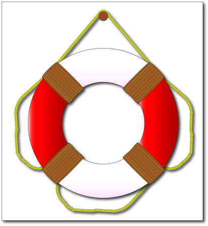 A typical lifebelt with no text and isolated on a white background Vector