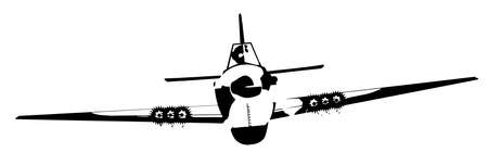 world war two: World War Two Aircraft isolated on a white background Illustration