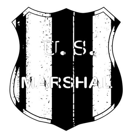 marshall: A United States Marshall shield type badge
