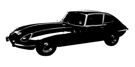 roadster: A classic sports car from the 1960 s isolated on a white background Illustration