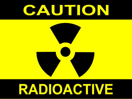 A Caution Radiation sign in yellow and black Stock Vector - 28640864