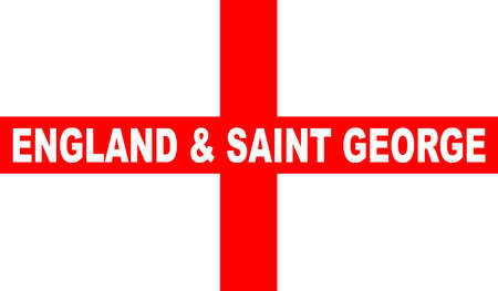 saint george: The flag of England and Saint George with text Illustration